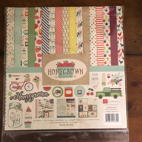 Echo Park ~ HOMEGROWN ~ Collection Kit ~ 12x12
